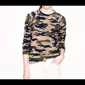 J Crew Camo Sweatshirt 100% Cotton / Soft washed.